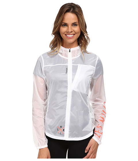 Reebok - Long Sleeve Woven Jacket (White) Women's Coat