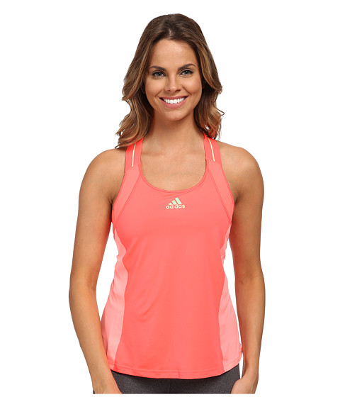 adidas - Adizero Tank Top (Light Flash Red/Light Flash Green) Women's Sleeveless