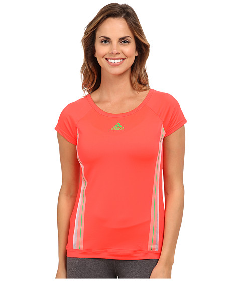 adidas - Adizero Tee (Light Flash Red/Light Flash Green) Women's T Shirt