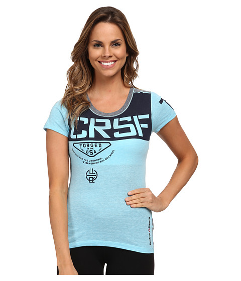 Reebok - CrossFit Short Sleeve Triblend Shirt (Neon Blue) Women's T Shirt