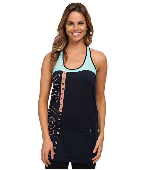 Reebok - ONE Series Tank Top Dress (Faux Indigo) Women