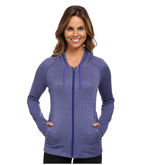 adidas - Ultimate Full Zip Hoodie (Amazon Purple/Power Purple) Women