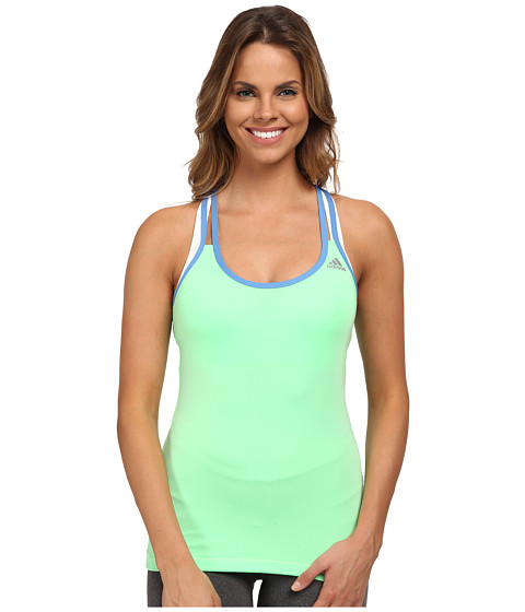 adidas - Techfit Tank Top (Light Flash Green/Lucky Blue) Women's Sleeveless
