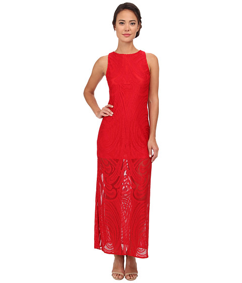 julia jordan - Placement Lace Maxi Dress (Red) Women's Dress