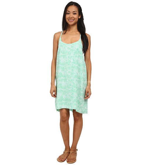 Hurley - Madison Cami Dress (Green Glow Pineapple) Women's Dress