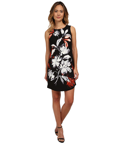 Nine West - Sleeveless Floral Dance Printed Dress (Sienna Combo) Women's Dress