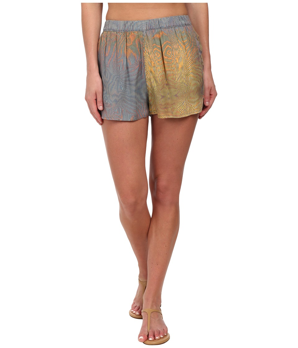 Hurley - Beachrider Highwaisted Woven Walkshorts (Green Glow Wave) Women's Shorts