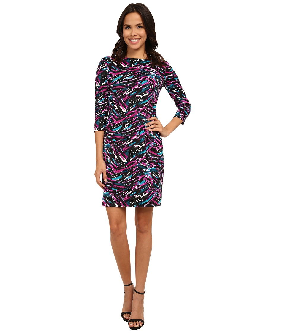 Nine West - Painted Splash Printed Ponte T-Shirt Dress (Gypsy Combo) Women