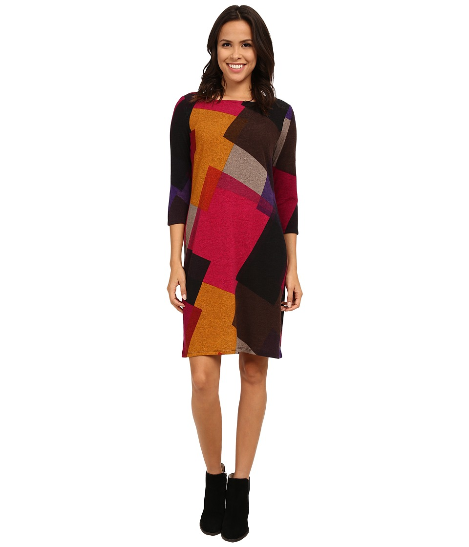Nine West - Hatchi Long Sleeved Printed Sheath Dress (Gypsy Combo) Women's Dress