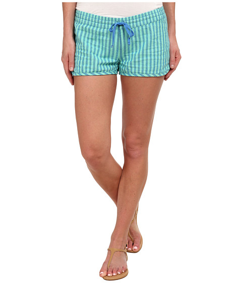 Hurley - Beachrider Woven Shorts (Green Glow Stripe) Women's Shorts