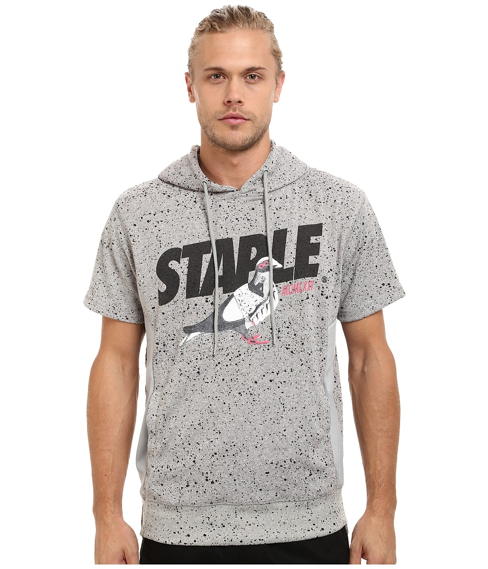 Staple - Runner Pigeon Short Sleeve Hoodie (Heather Grey) Men's Sweatshirt
