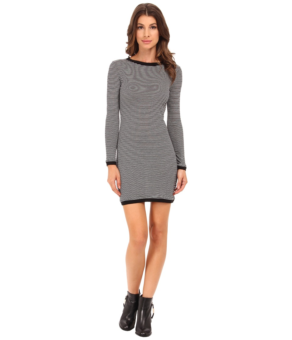 French Connection - Starzy Stripe Dress 71EFB (Black/Nocturnal/Silver) Women's Dress