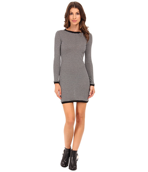 French Connection - Starzy Stripe Dress 71EFB (Black/Nocturnal/Silver) Women