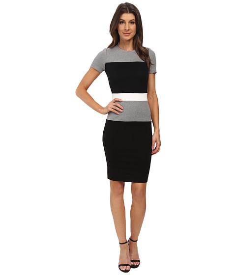 French Connection - Lula Stretch Dress 71EBQ (Black/White/Grey Melange) Women's Dress