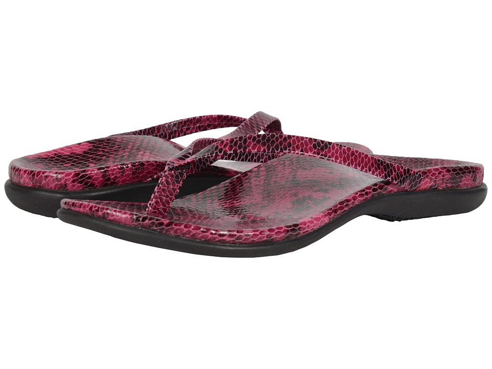VIONIC - Selena Corfu (Rasberry Snake) Women's Sandals