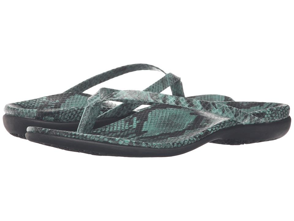 VIONIC - Selena Corfu (Teal Snake) Women's Sandals