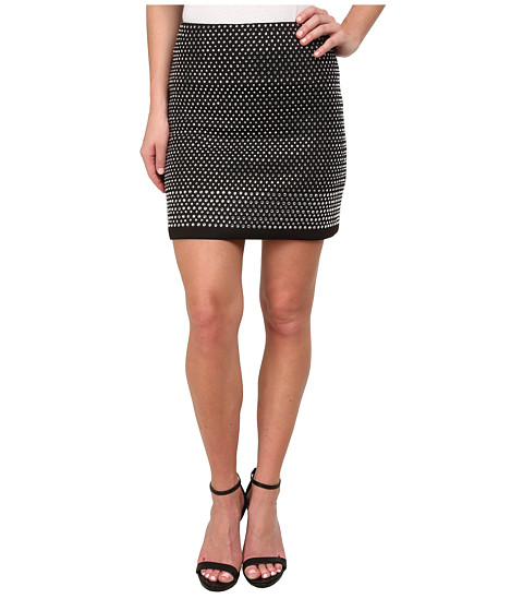 French Connection - Diamond Rock Jersey Skirt 73EAL (Black) Women