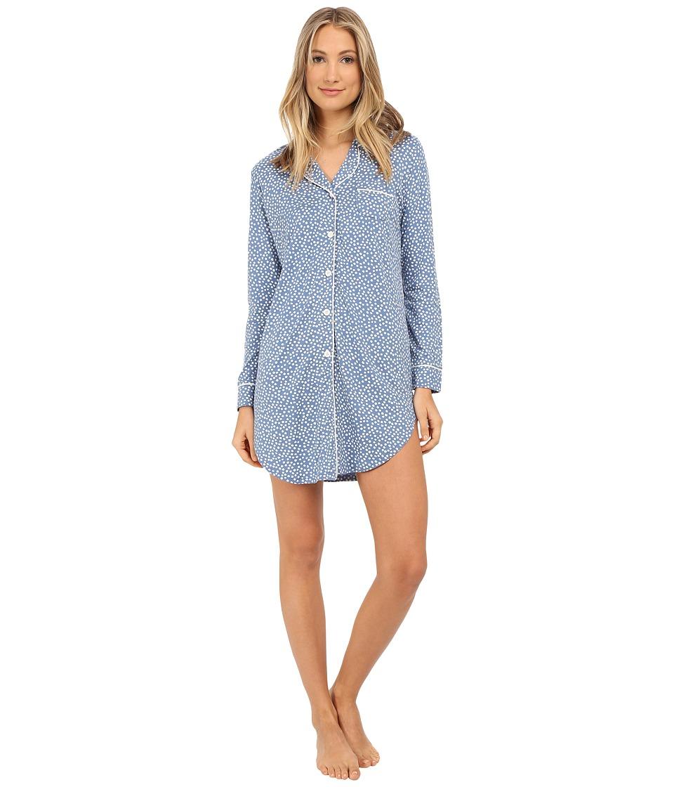 Cosabella - Bella Printed Nightshirt (Bluet Flower/White) Women
