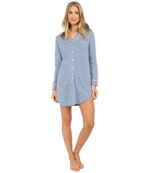 Cosabella - Bella Printed Nightshirt (Bluet Flower/White) Women's Pajama