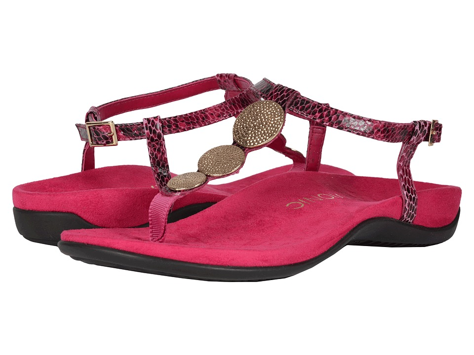 VIONIC - Rest Lizbeth (Berry Snake) Women's Sandals