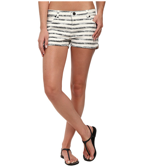 Hurley - Beachrider Five-Pocket Printed Walkshorts (Black Stripe) Women