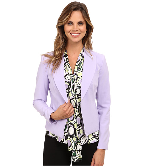 Nine West - Bi Stretch Hook Eye Notch Lapel Jacket (Lilac) Women's Coat