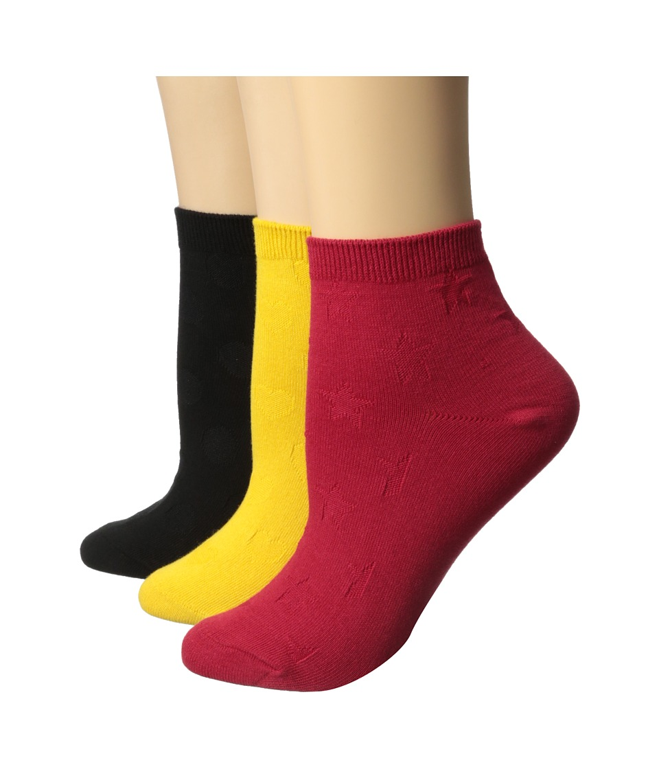 Betsey Johnson - No Show Colorful Socks 3-Pack (Bold Multi) Women's No Show Socks Shoes