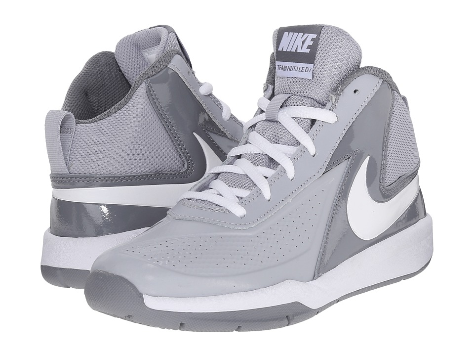 Nike Kids - Team Hustle D 7 (Big Kid) (Wolf Grey/Cool Grey/White) Boys Shoes