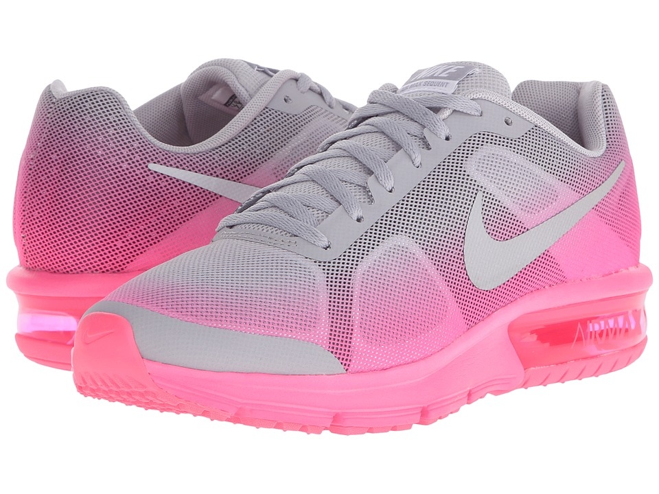 Nike Kids - Air Max Sequent (Big Kid) (Wolf Grey/Hyper Pink/Reflect Silver) Girls Shoes
