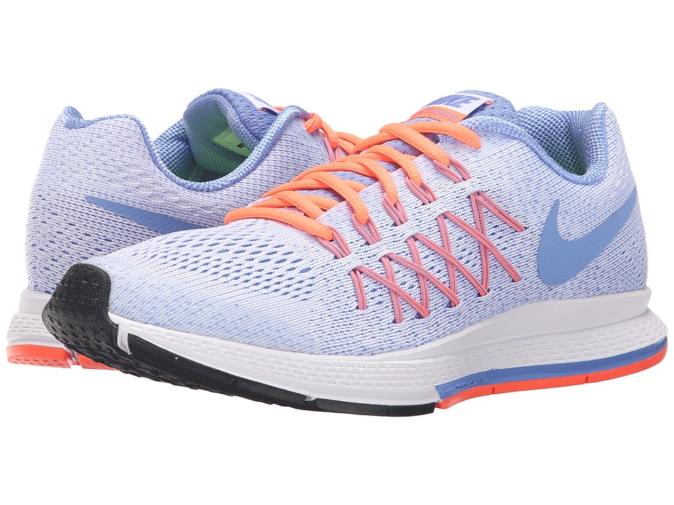 Nike Kids - Zoom Pegasus 32 (Little Kid/Big Kid) (White/Bright Mango/Chalk Blue/Chalk Blue) Girls Shoes