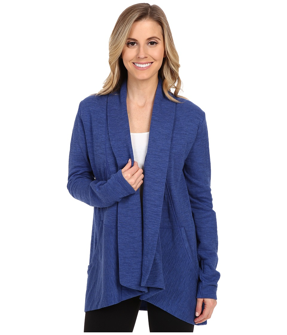 Lucy - Tranquility Slub Wrap (Sodalite Blue Heather) Women's Sweater