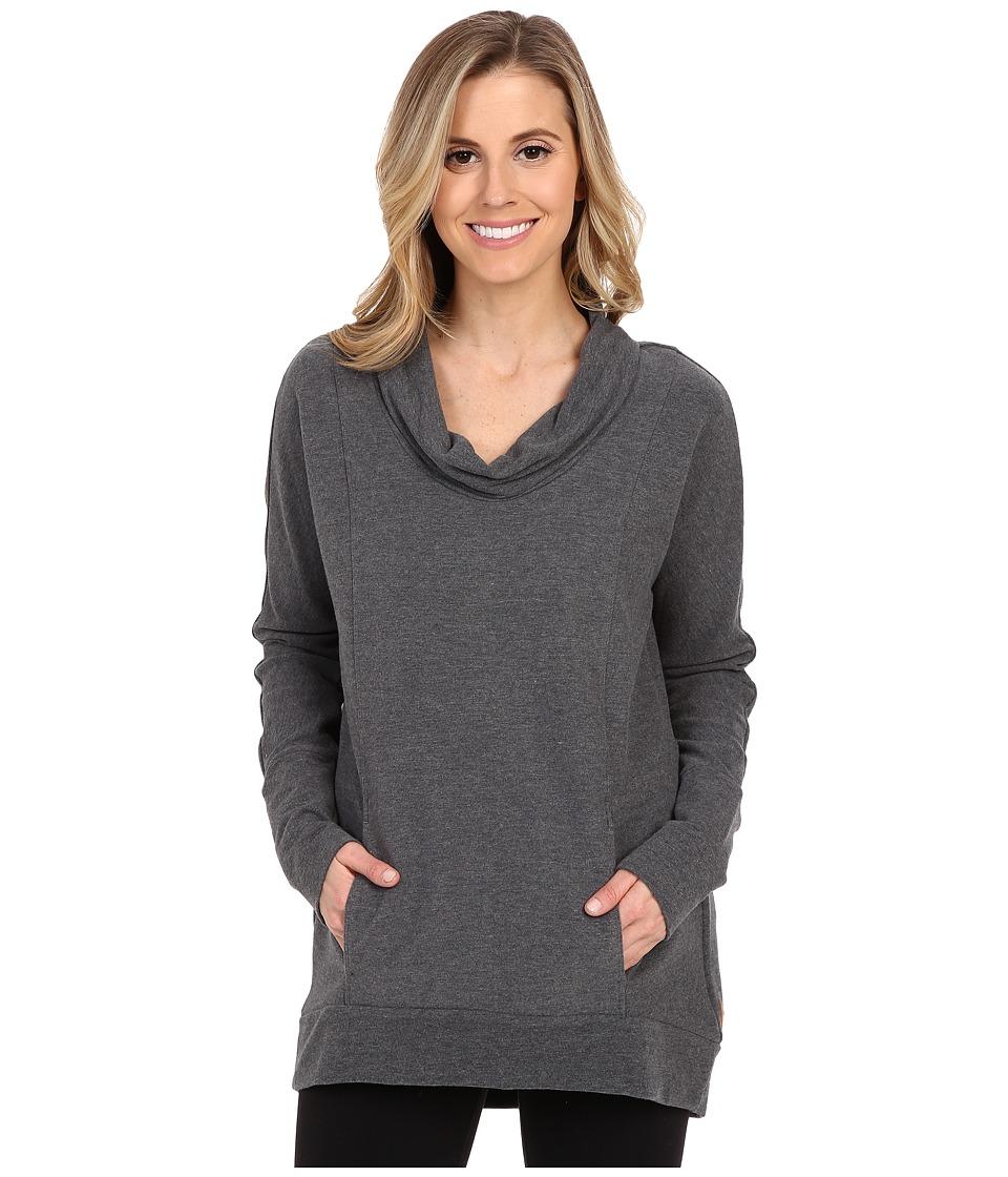 Lucy - Savasana Long Sleeve Cowl (Fossil Heather) Women's Sweater
