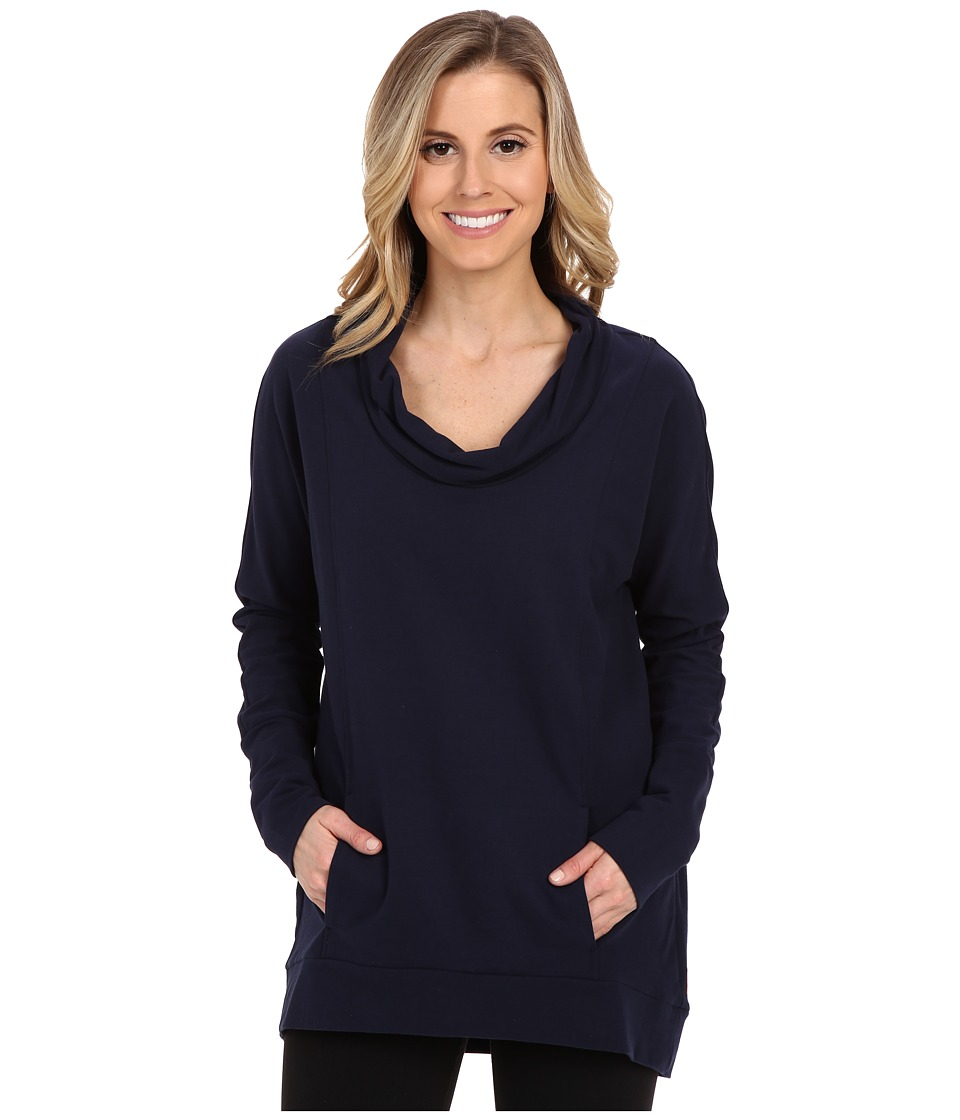 Lucy - Savasana Long Sleeve Cowl (Lucy Navy) Women's Sweater