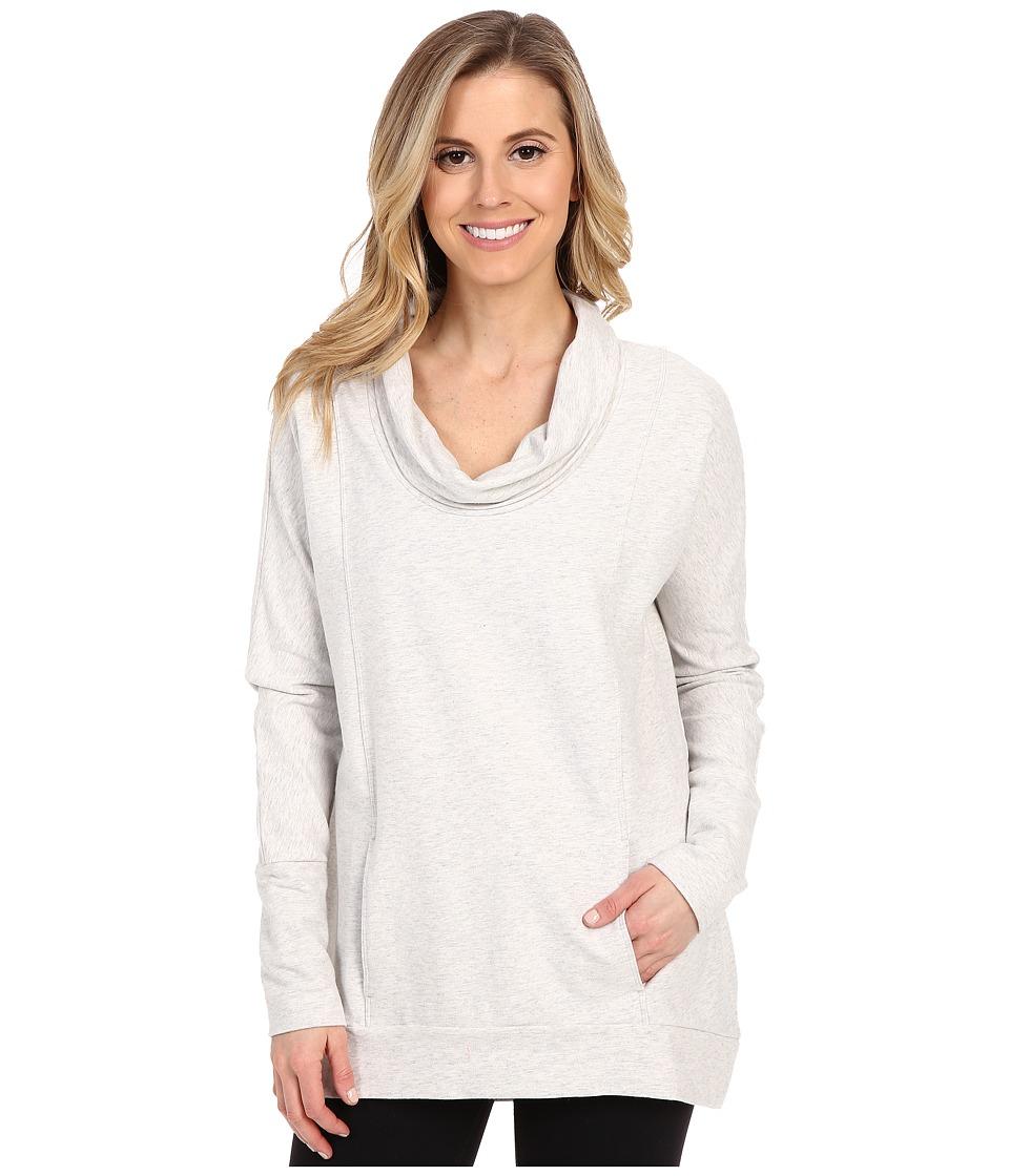 Lucy - Savasana Long Sleeve Cowl (Dove Grey Heather) Women's Sweater