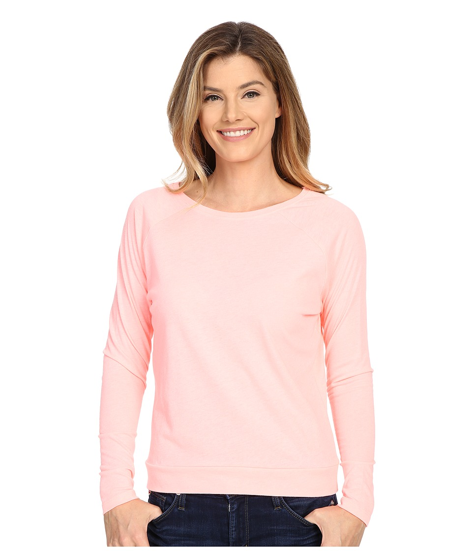 Lucy - Savasana Long Sleeve Top (Blush Pink Heather) Women's Long Sleeve Pullover