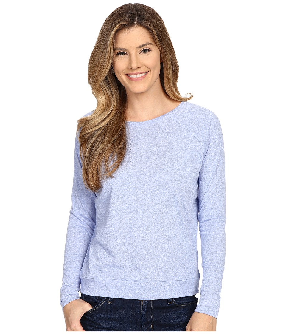 Lucy - Savasana Long Sleeve Top (Petunia Heather) Women's Long Sleeve Pullover