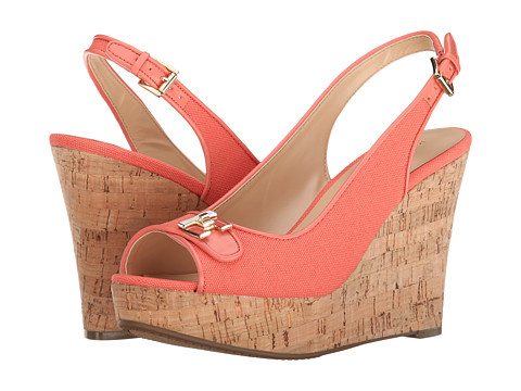 Tommy Hilfiger - Kaluwa 2 (Coral Canvas/Coral Delika) Women's Shoes