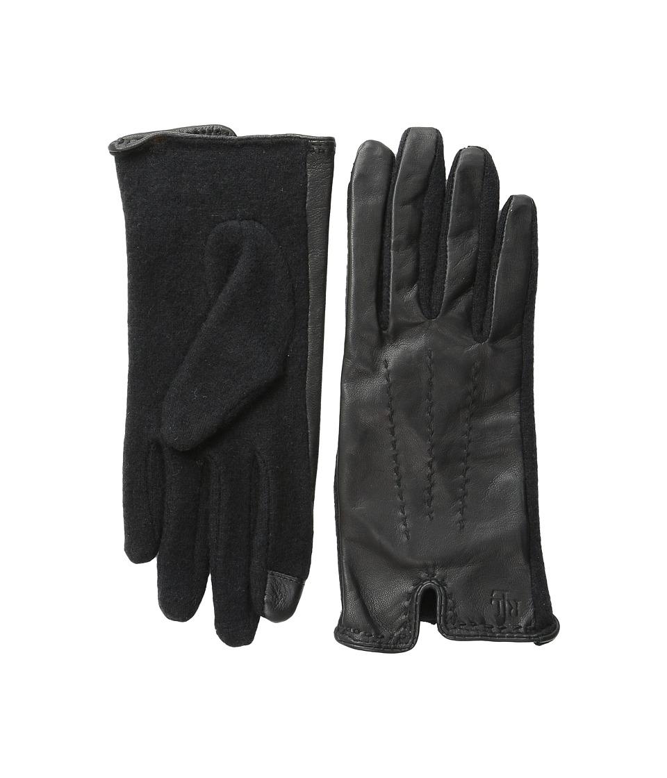 LAUREN by Ralph Lauren - Color Stitch Hybrid Touch Glove (Black/Black) Wool Gloves
