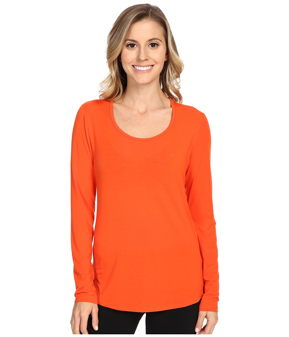 Lucy - L/S Workout Tee (Vermillion) Women's Workout
