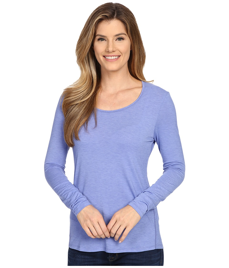 Lucy - L/S Workout Tee (Petunia) Women's Workout