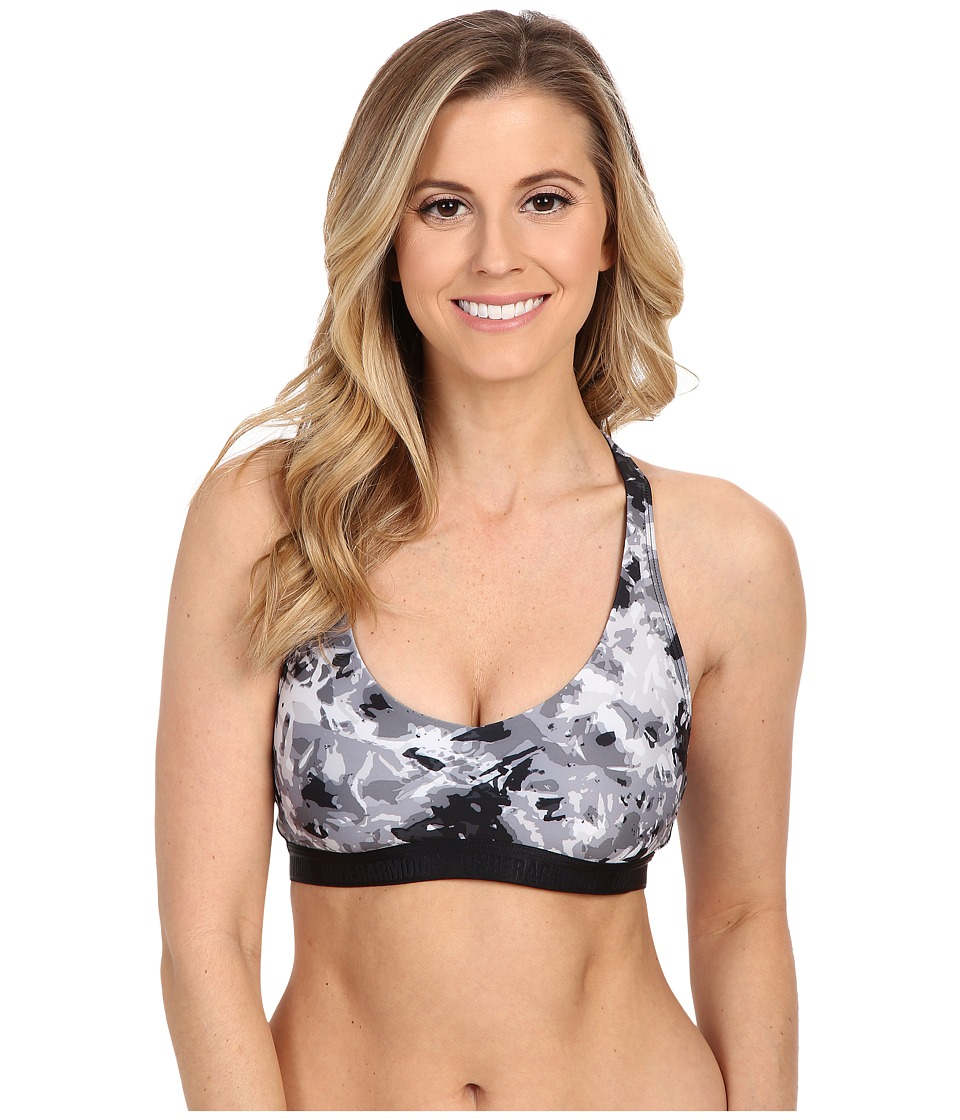 Under Armour - Heatgear(r) Alpha Light Printed Bra (Black/Elemental/Black Floral Burst) Women's Bra