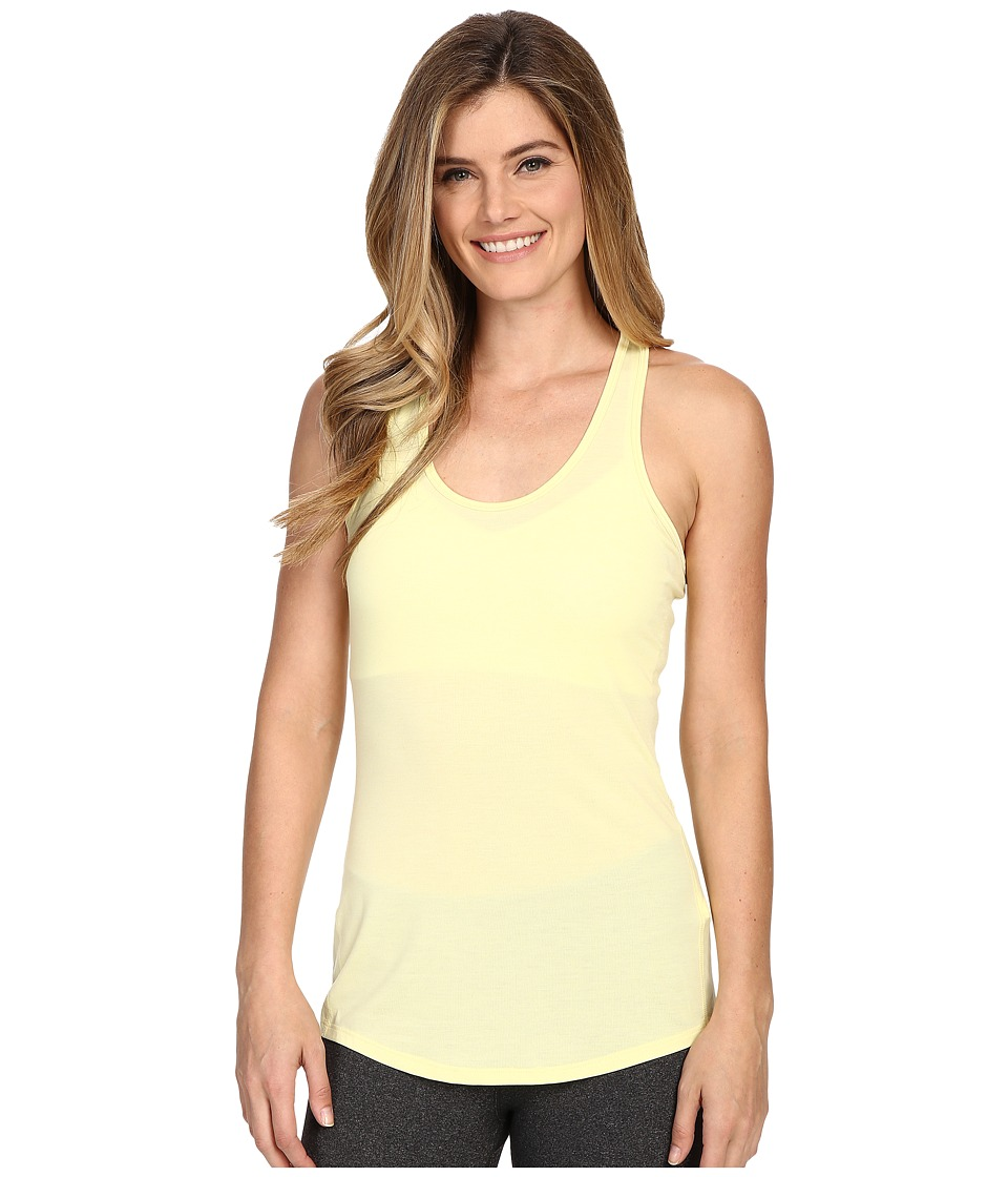 Lucy - Workout Racerback (Sheer Yellow) Women's Clothing