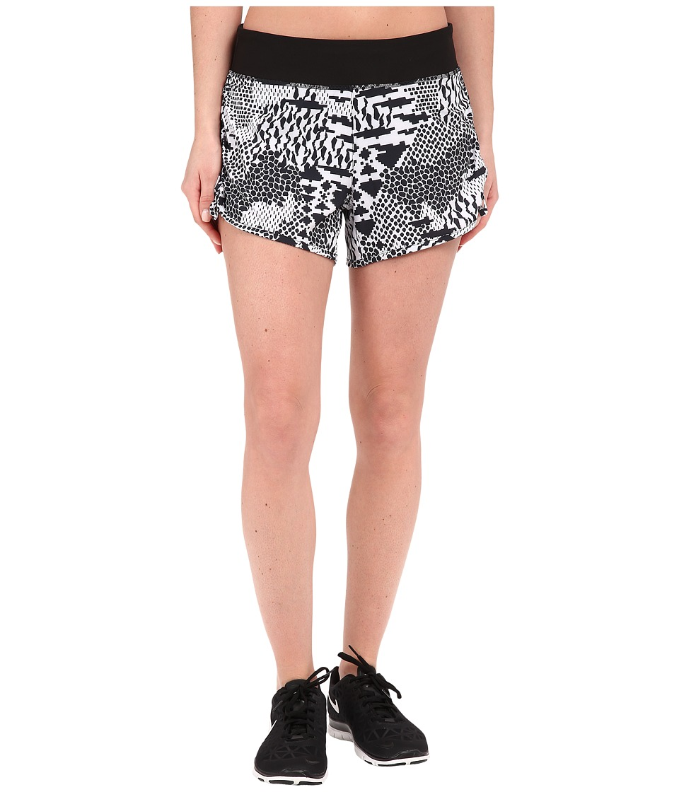 Lucy - Endurance Woven Shorts (Lucy White/Lucy Black Hybrid Geo Print) Women's Shorts