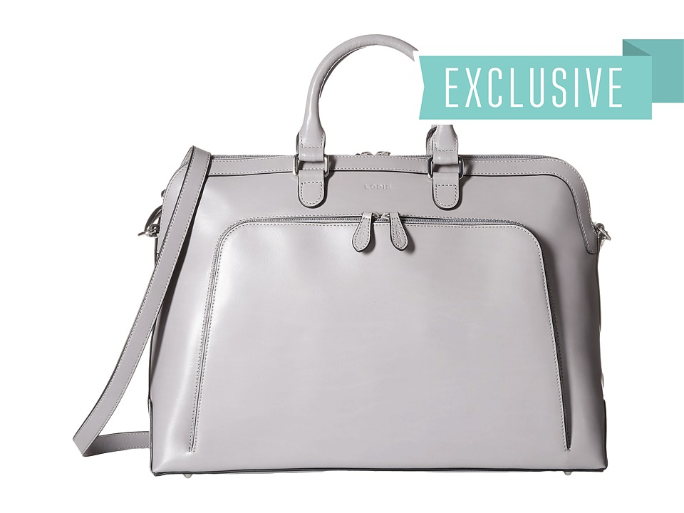 Lodis Accessories - Audrey Brera Briefcase With Laptop Pocket (Grey) Briefcase Bags