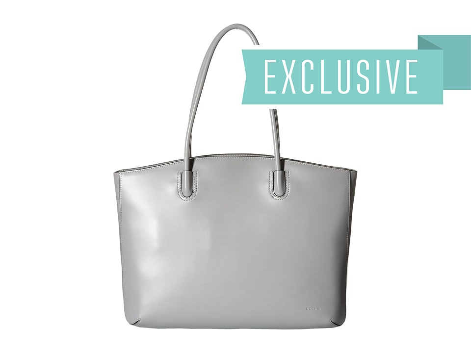 Lodis Accessories - Audrey Milano Tote With Laptop Pocket (Grey) Tote Handbags