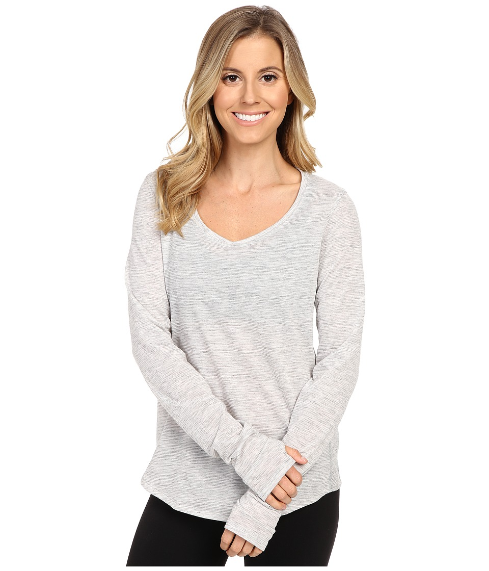 Under Armour - Streaker Long Sleeve Shirt (True Gray Heather/Reflective) Women's Workout