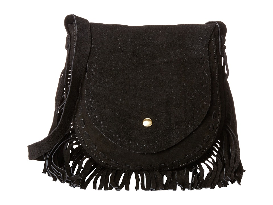 Gabriella Rocha - McKenna Fringe Saddle Bag (Black) Satchel Handbags