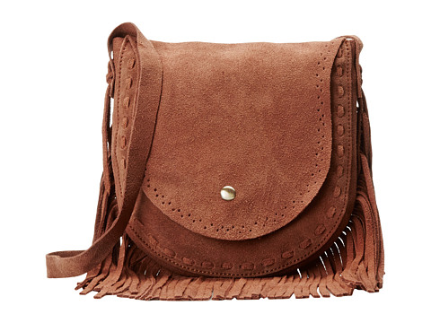 Gabriella Rocha - McKenna Fringe Saddle Bag (Camel) Satchel Handbags