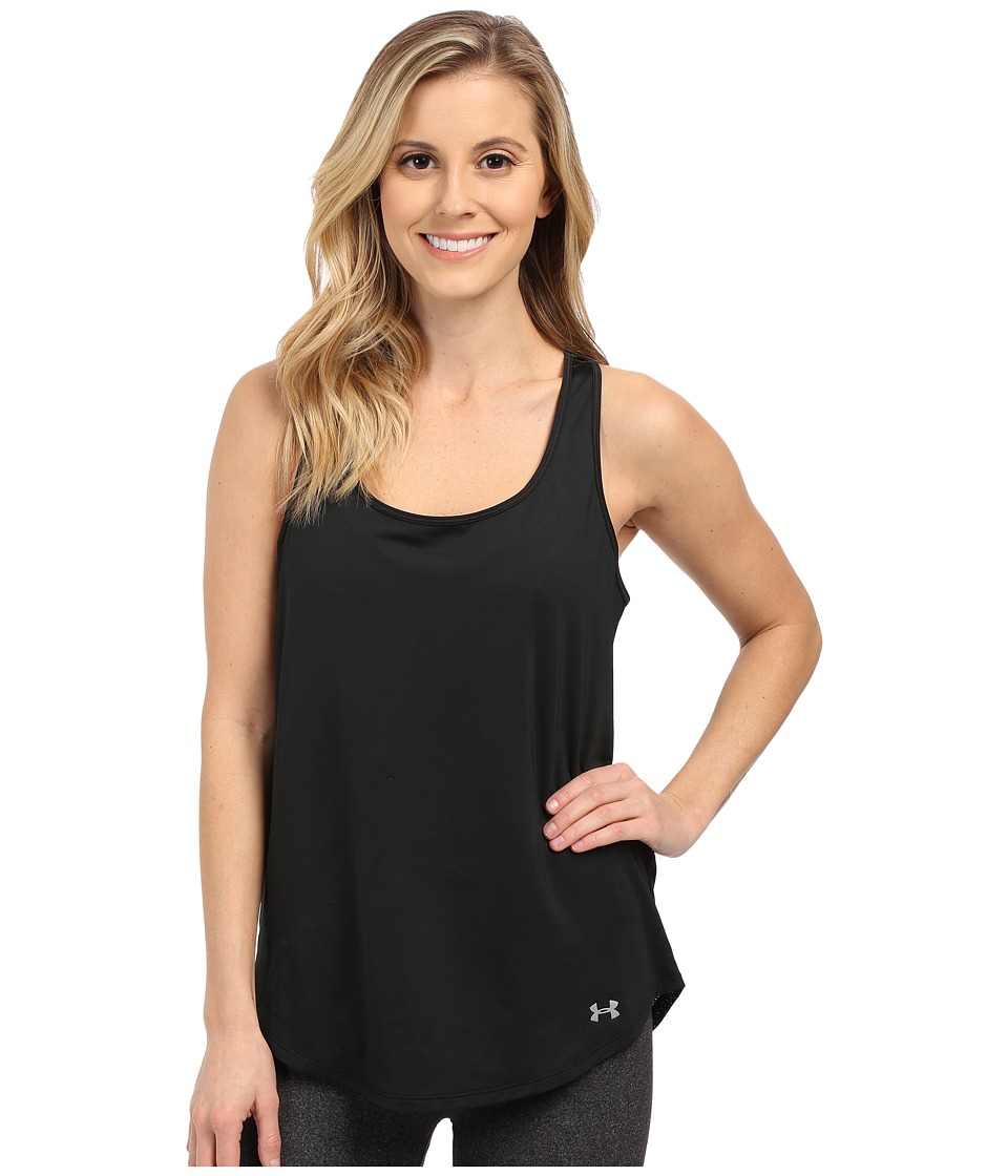 Under Armour - Fly By Run Tank Top (Black/Black/Reflective) Women's Workout