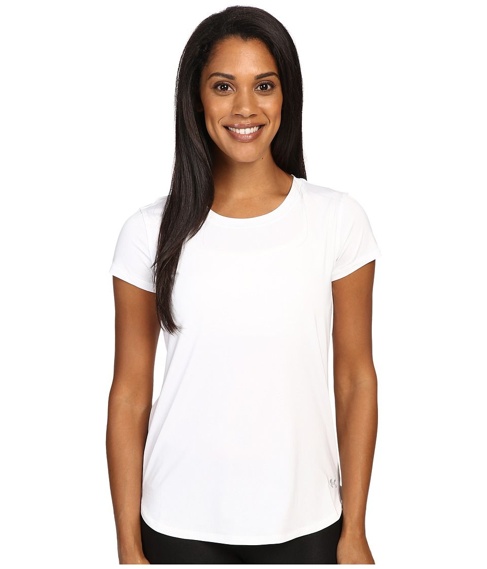 Under Armour - Fly By Short Sleeve Shirt (White/White/Reflective) Women's T Shirt